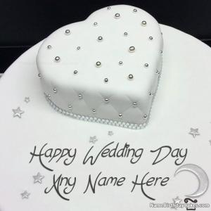 Romantic Happy Wedding Cake With Name
