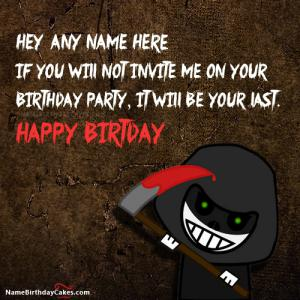 Scary Funny Birthday Images With Name
