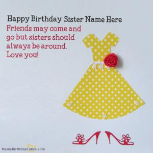 Happy Birthday Wishes With Name For Sister