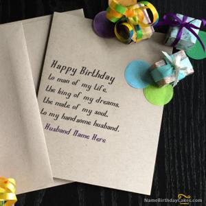 Unique Birthday Cards for Husband With Name