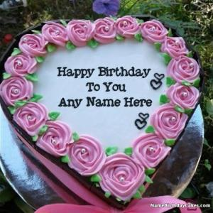 Your Name Photo On Birthday Cake Pic